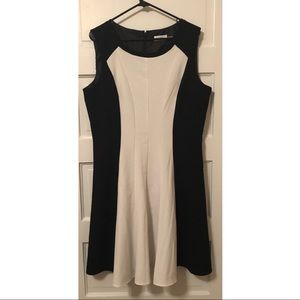 Calvin Klein | Size 14 black & white dress